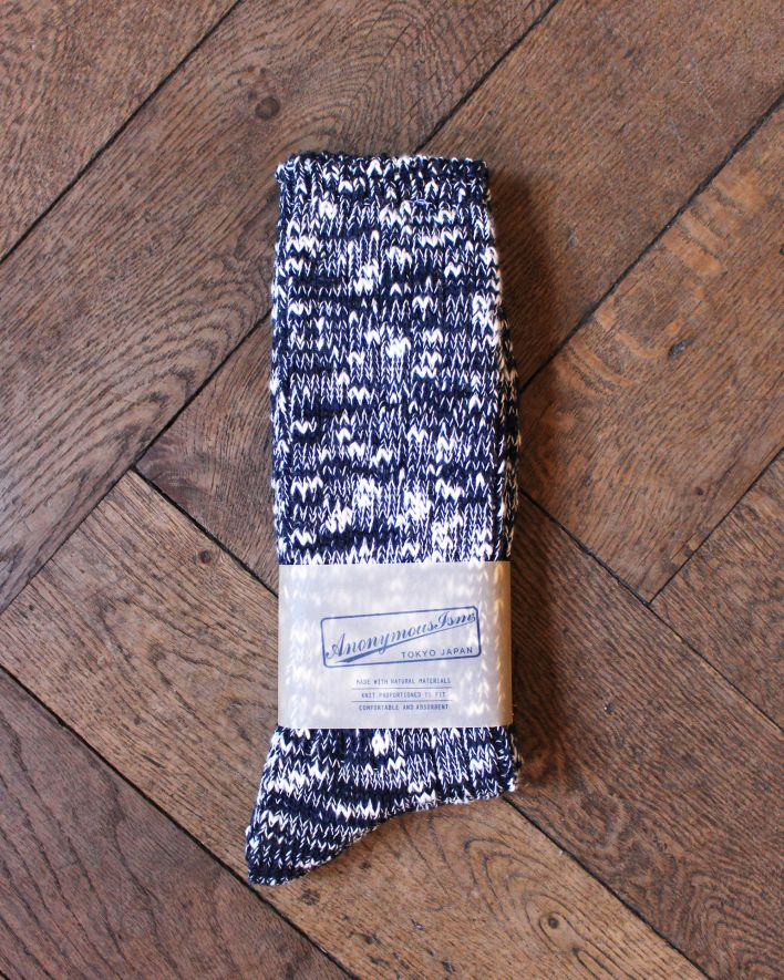 Anonymous Slub Crew Socks navy_1
