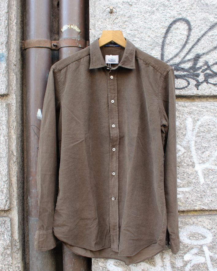 B.D. Baggies Bradford Shirt Corduroy dark brown_1