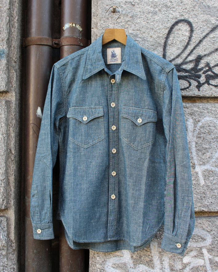 Captain Santors Military Shirt Chambray_1