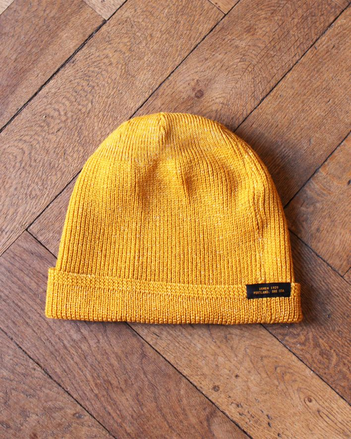 Dehen Watch Cap Beanie Wool old gold