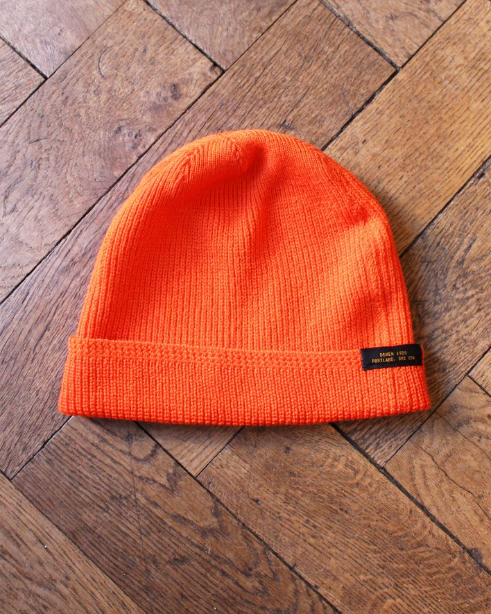 Dehen Watch Cap Beanie Wool safety orange