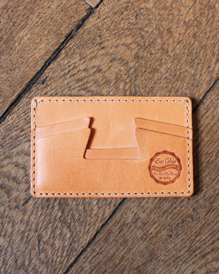 Eat Dust Creditcard Holder Leather natural_1