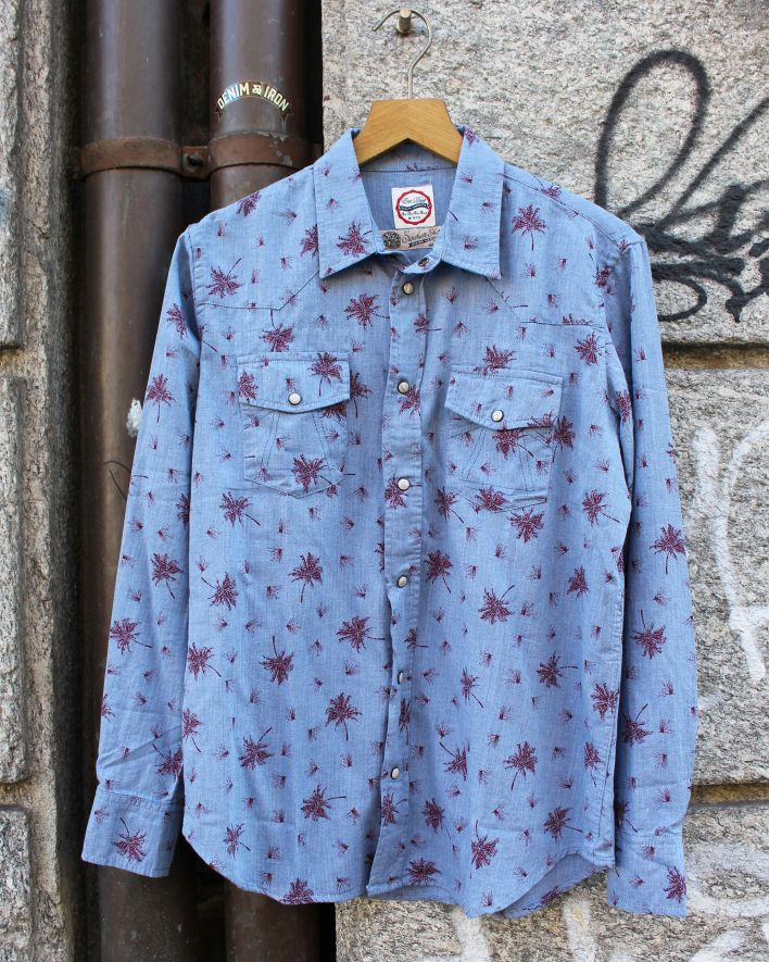 Eat Dust Fireworks Western Shirt light blue_1