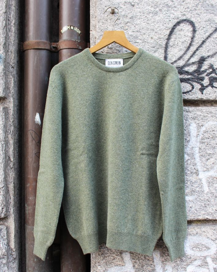 Glen Somefine Classic Crew Neck Sweater Lambswool landscape_1