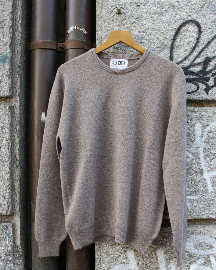 Glen Somefine Classic Crew Neck Sweater Lambswool vole_1