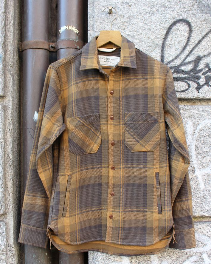 Rogue Territory Service Jacket brown plaid_1