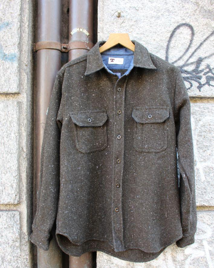 Tellason Clampdown Shirt Faribault Wool olive_1