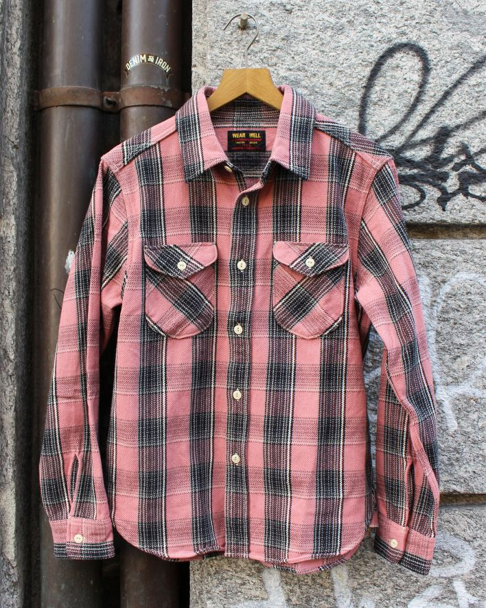 UES Heavy Flannel Shirt pink_1