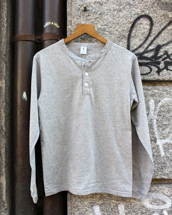 Velva Sheen Henley Longsleeve heather grey_1