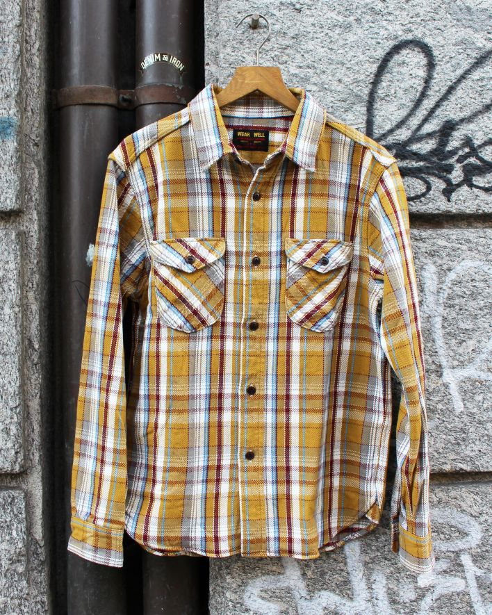 UES Heavy Flannel Shirt mustard_1.1