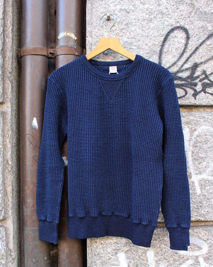 UES Waffle Sweatshirt indigo_1