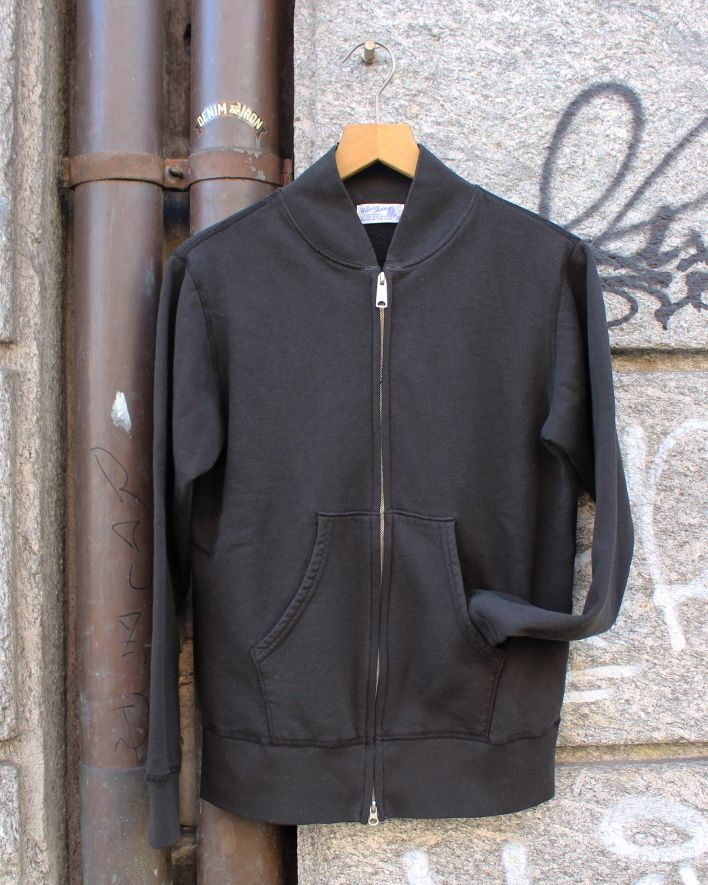 Velva Sheen Zip Jacket Sweater 10oz black_1