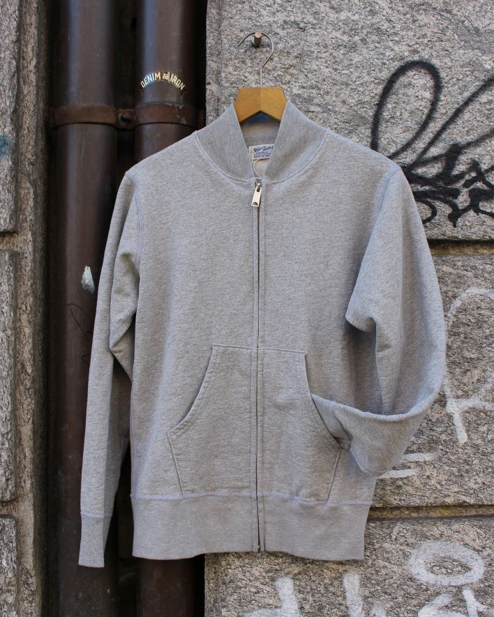 Velva Sheen Zip Jacket Sweater 10oz heather grey_1