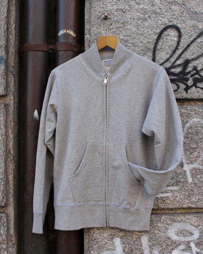 Velva Sheen Zip Jacket Sweater 10oz heather grey_1