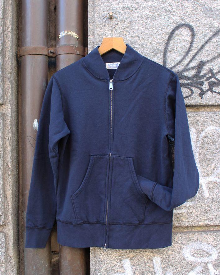 Velva Sheen Zip Jacket Sweater 10oz navy_1