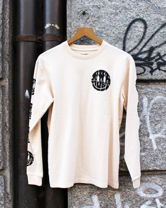 Eat Dust Smiley Longsleeve Tee white_1