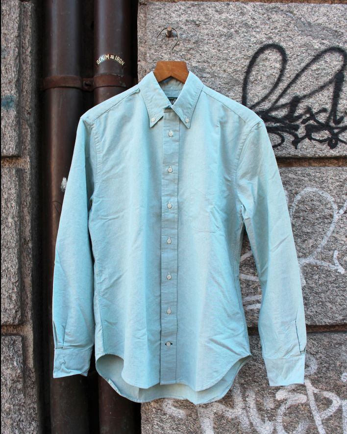 Gitman Vintage Oxford Shirt green_1