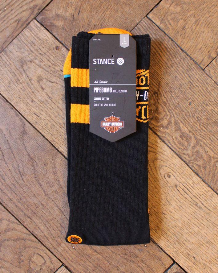 Stance Accelerate Boot Harley Davidson Socks black_1