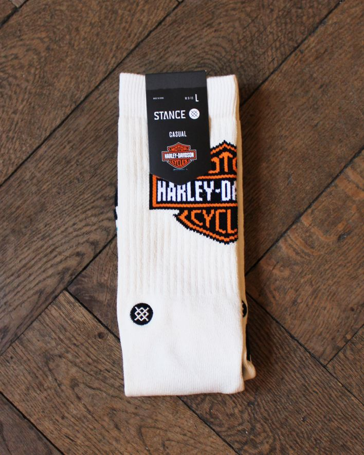 Stance Classic Harley Davidson Socks cream_2