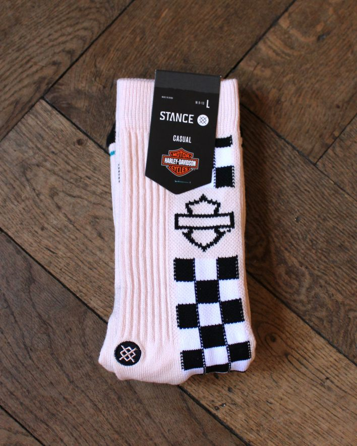 Stance Side Check Harley Davidson Socks pink_1