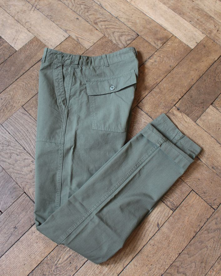 Tellason Fatigue Pant Military Chino ripstop olive_5
