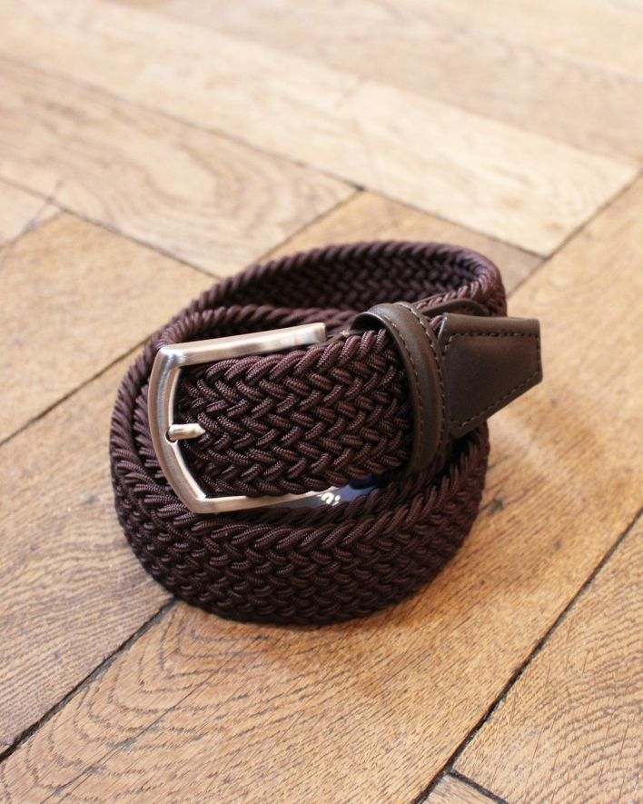 Anderson's Woven Textile Leather Belt brown_1