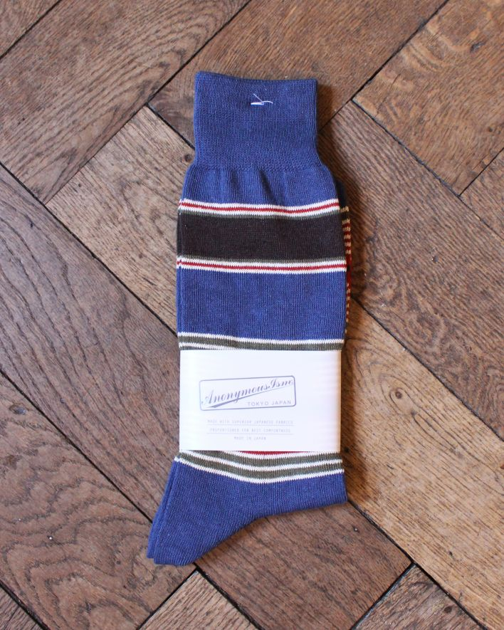 Anonymous Linen Ramy Stripe Crew navy_1