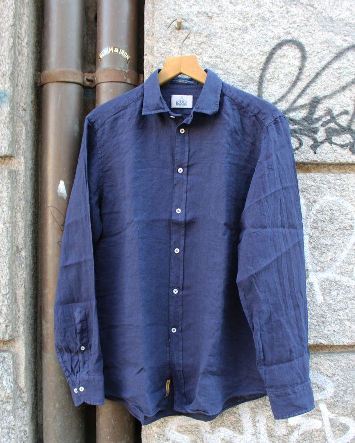 B.D. Baggies Bradford Shirt Linen navy_1
