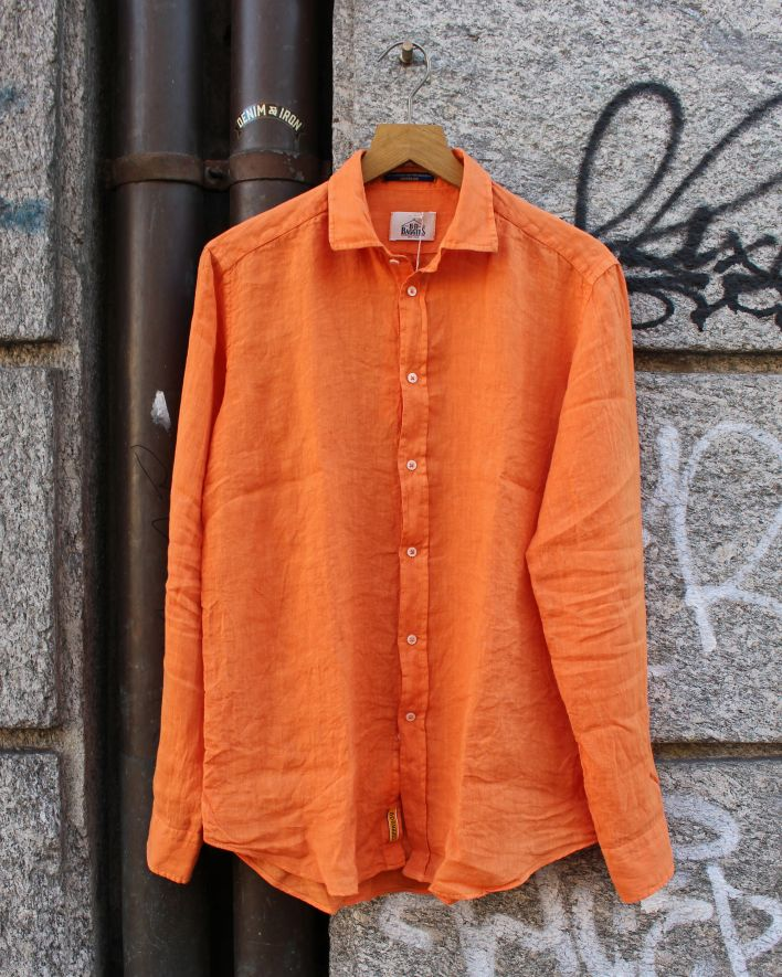 B.D. Baggies Bradford Shirt Linen orange_1