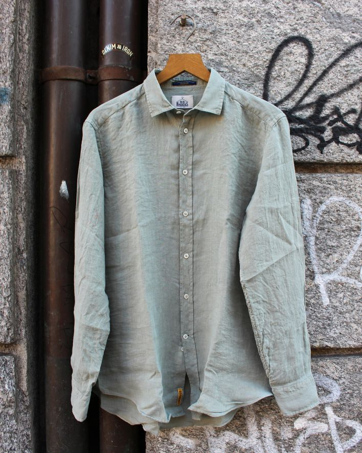 B.D. Baggies Bradford Shirt Linen seafoam_1