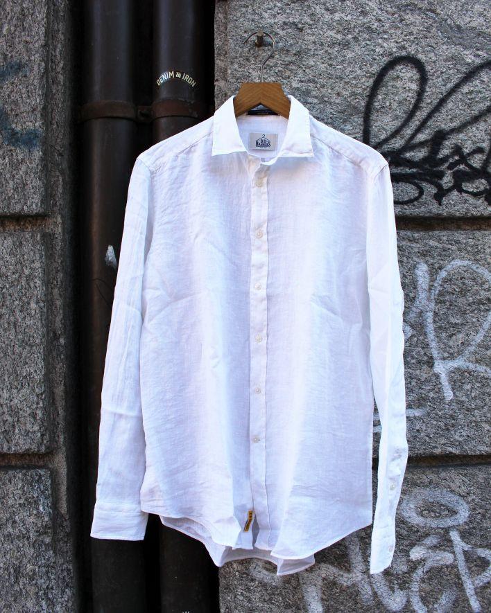 B.D. Baggies Bradford Shirt Linen white_1