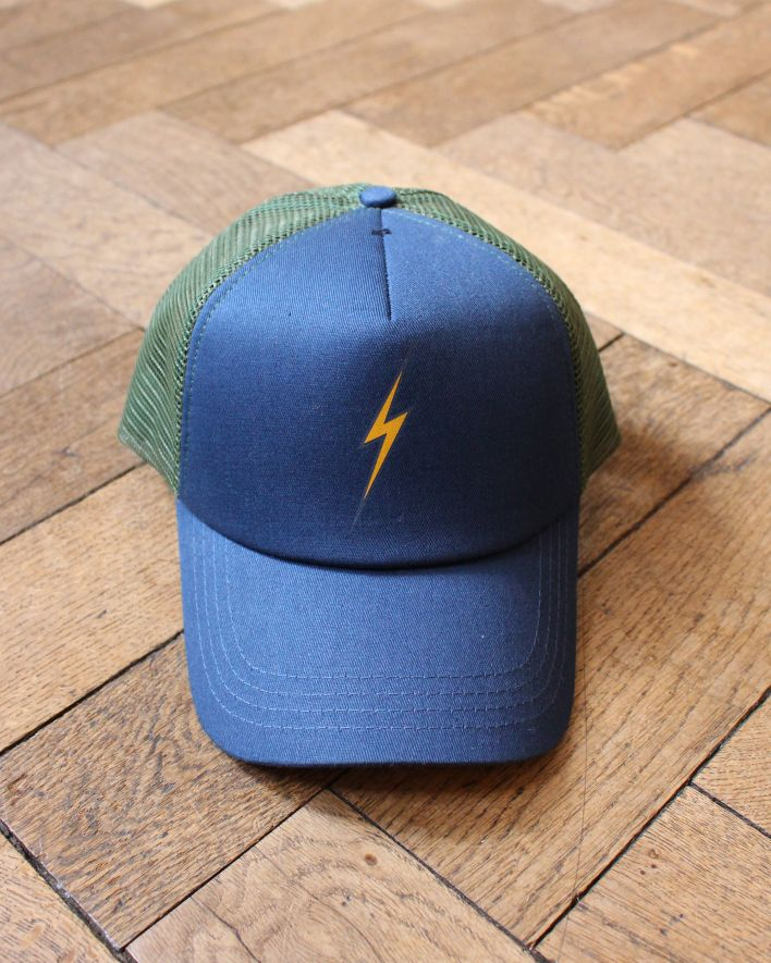Lightning Bolt BOLT II Trucker Cap blue green_1