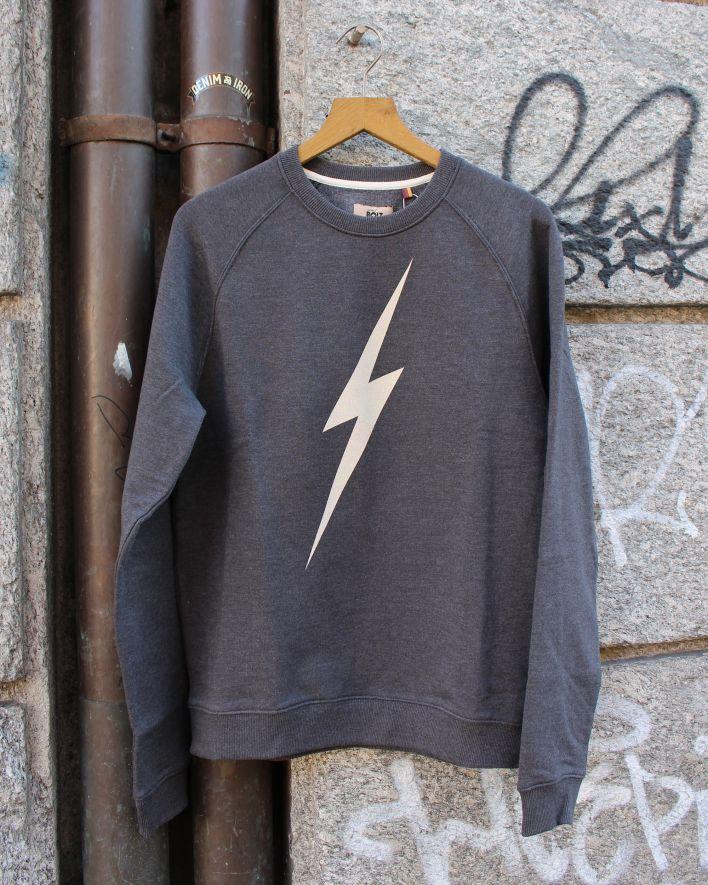 Lightning Bolt Forever Sweater dark grey melange_1