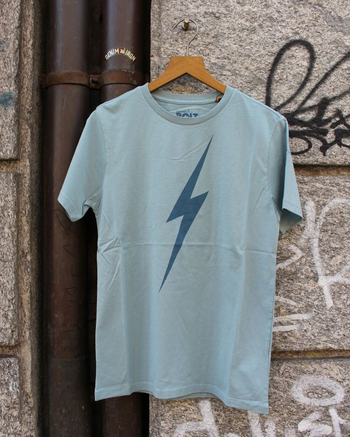 Lightning Bolt Forever T-Shirt bluestone_1
