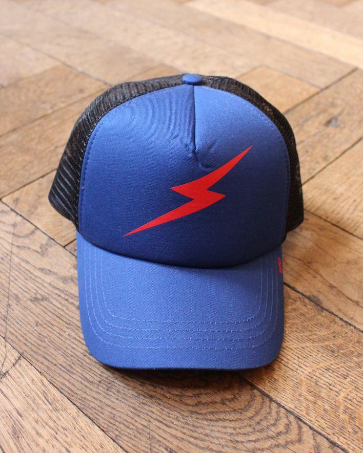 Lightning Bolt Forever Trucker Cap blue black_1