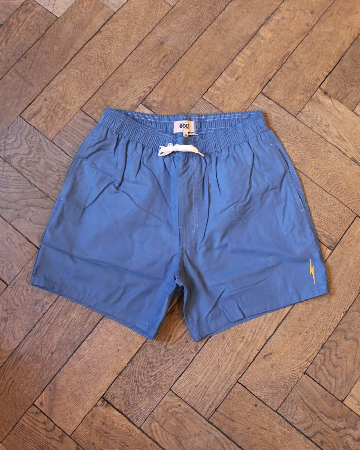 Lightning Bolt Plain Turtle Board Short bluestone_1