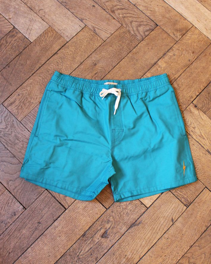 Lightning Bolt Plain Turtle Board Short harbour blue_1