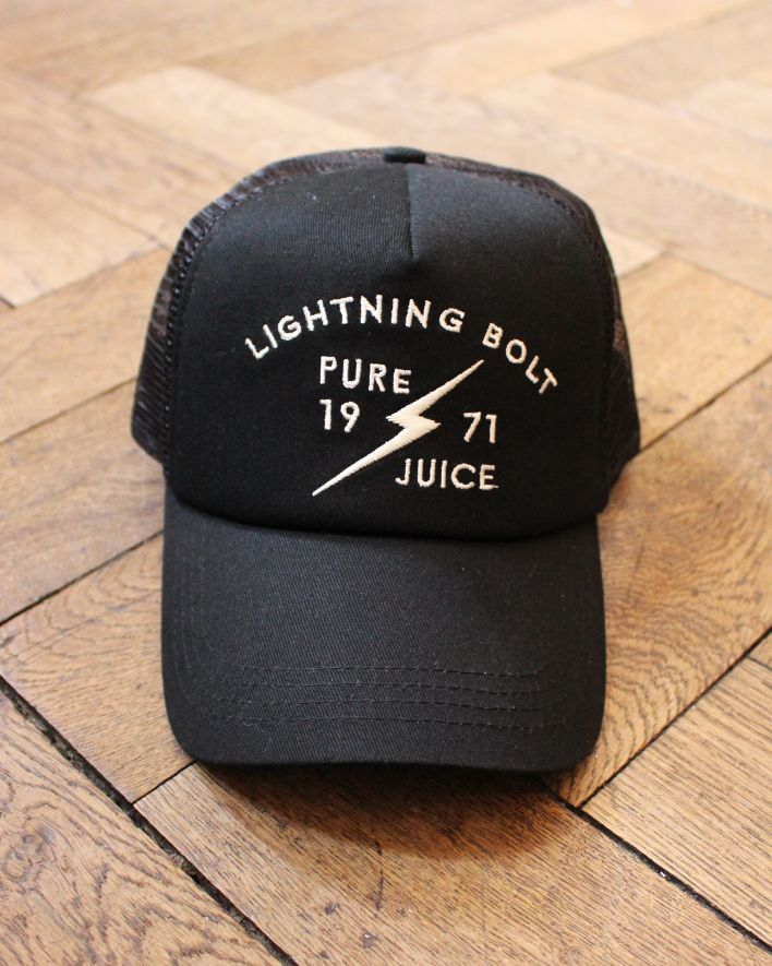 Lightning Bolt Pure Juice Trucker Cap black_1