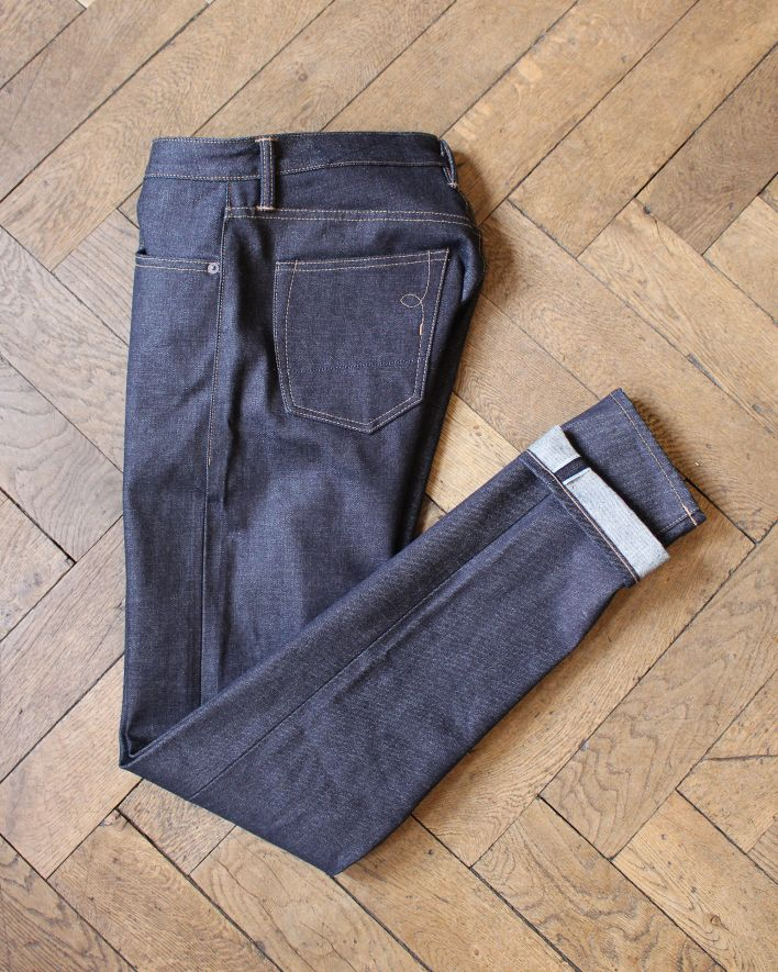 RGT Strong Taper 15 oz Slim Tapered Jeans indigo raw selvedge_6