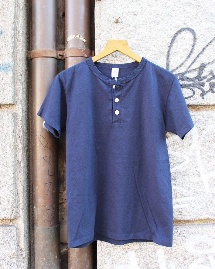 Velva Sheen Henley T-Shirt navy_1