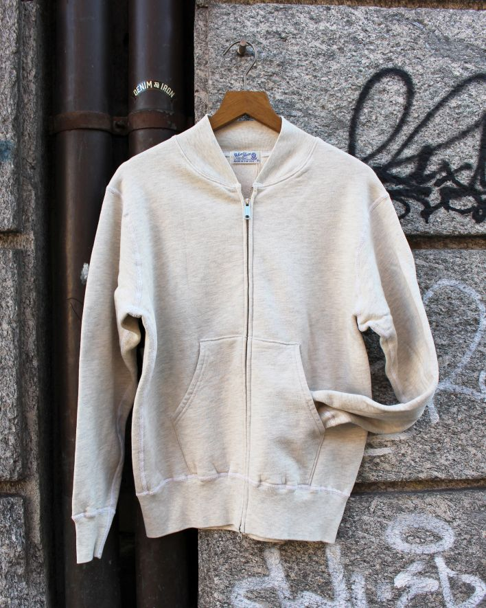 Velva Sheen Zip Jacket Sweater 10 oz.oatmeal 1