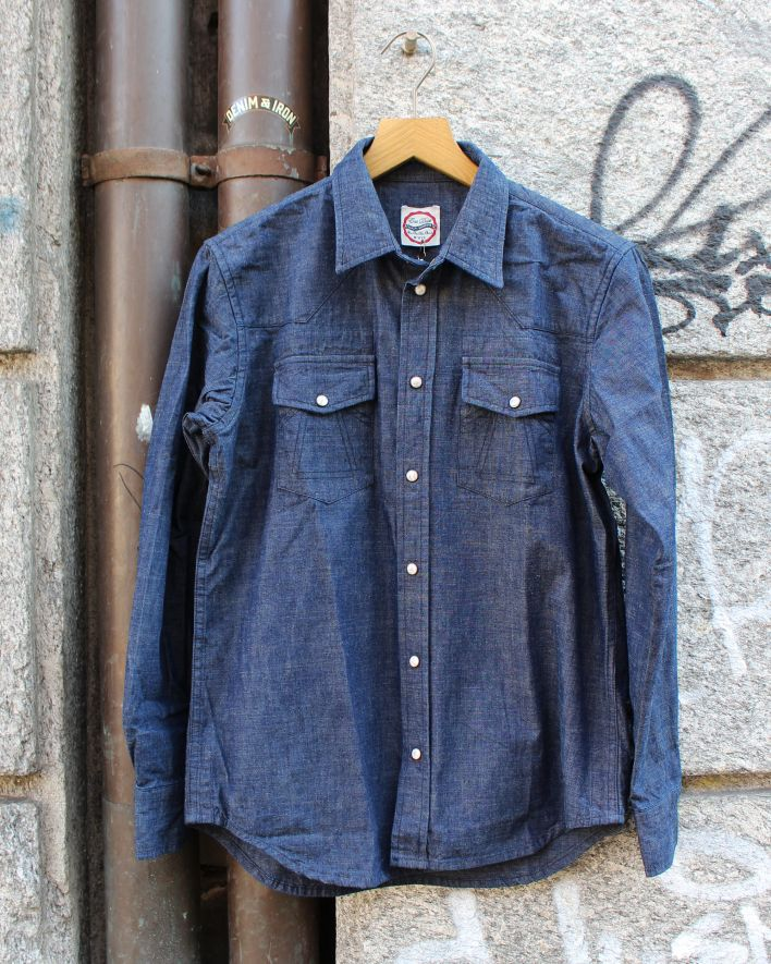 Eat Dust Chambray Western Shirt indigo_1