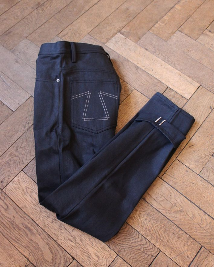 Eat Dust FIT 73 Loose Tapered Jeans black raw Selvedge_1