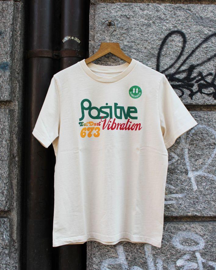 Eat Dust Positive Vibrations T-Shirt off white_1