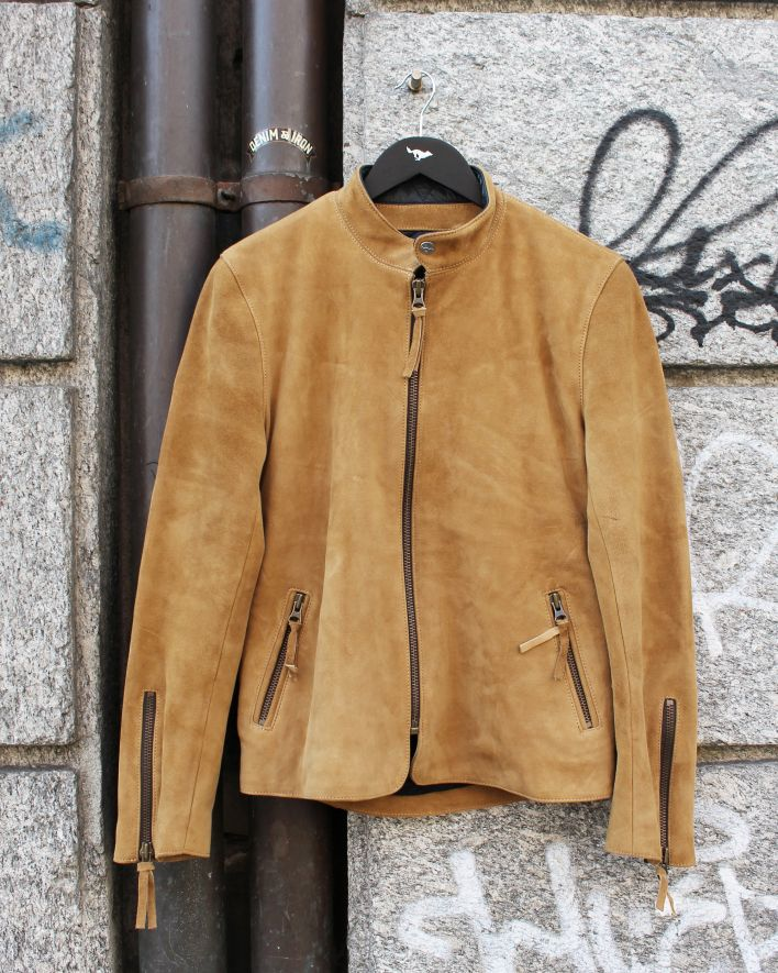El Solitario Kraken Leather Jacket Suede beige_1