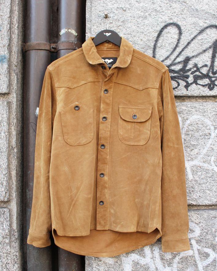 El Solitario Vandal Overshirt Leather Suede_1