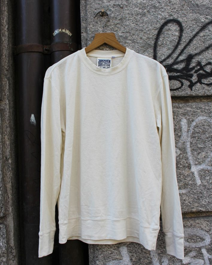 Jungmaven California Longsleeve washed white_1