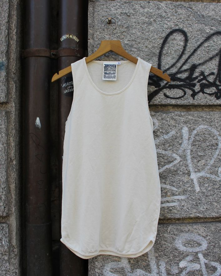 Jungmaven TANK Top washed white_1