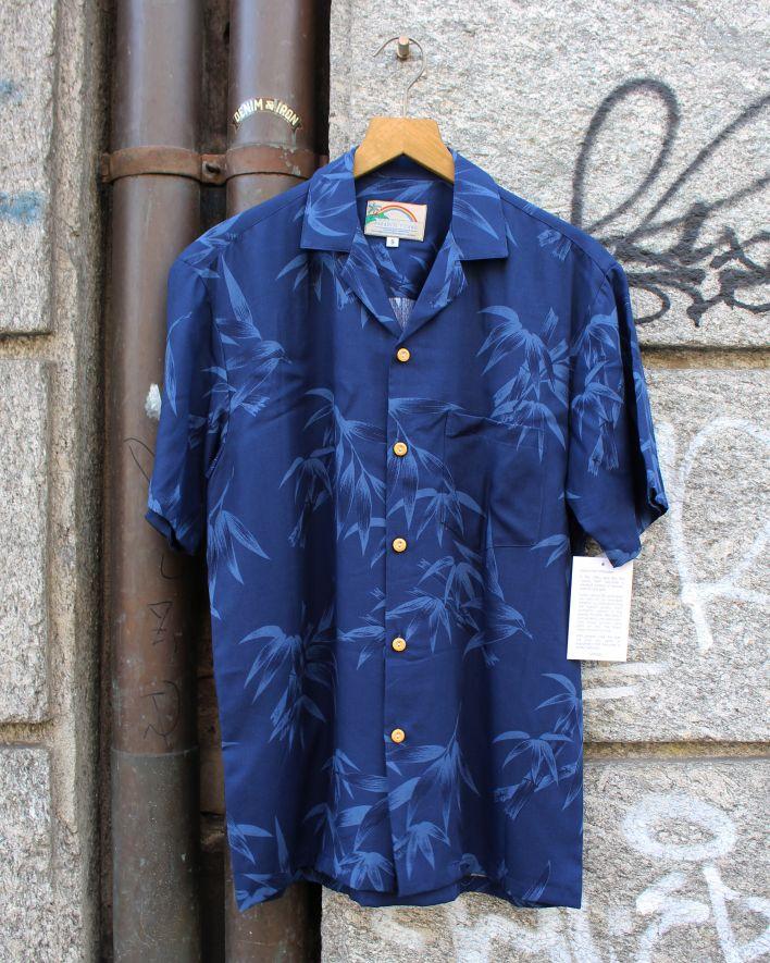 Paradise Found BAMBOO Hawaii Shirt navy_1