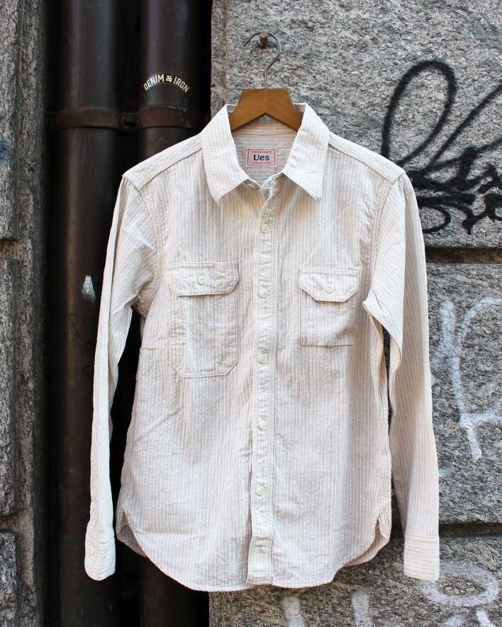 UES Indigo Striped Shirt offwhite_1.1